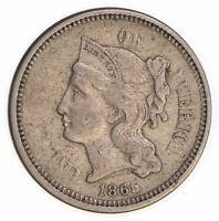 1865 THREE CENT PIECE - COPPER NICKEL 3903