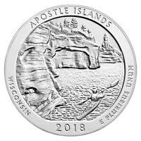 2018 APOSTLE ISLANDS 5 OZ. SILVER ATB AMERICA THE BEAUTIFUL GEM BU COIN SKU49845