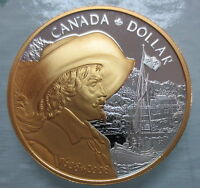 2008 CANADA FOUNDING OF QUEBEC PROOF SILVER DOLLAR GOLD PLAT