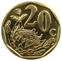 D8    SDAFRIKA SOUTH AFRICA   20 CENTS 2008   KNIGSPROTEA   UNC   KM 442