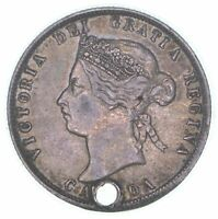 1872 H CANADA 25 CENTS  CONDITION: HOLE  0818