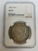 1897-O MORGAN SILVER DOLLAR NGC GRADED AU 55 DETAILS CLEANED