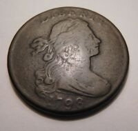 1798 DRAPED BUST CENT S-182 R-4