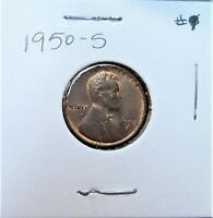 1950-S LINCOLN WHEAT CENT PENNY     SHIPS FREE     9