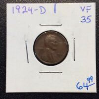 1924-D LINCOLN CENT IN VF CONDITION
