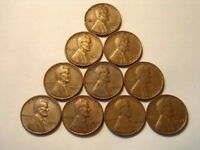 1948-P LINCOLN WHEAT CENTS,10 PIECES. BETTER GRADES- LOT 01557,