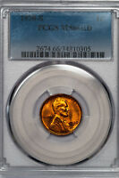 1938-S LINCOLN CENT PCGS MINT STATE 66RD SHIMMERING RED GEM 34810305