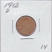 1912 D LINCOLN CENT IN GOOD CONDITION