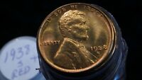 1938 S SUPURB GEM BU UNCIRCULATED LINCOLN WHEAT CENT ROLL FROM ORIGINAL BANK BAG