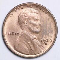 1929-D LINCOLN WHEAT SMALL CENT CHOICE BU SHIPS FREE E134 KCT