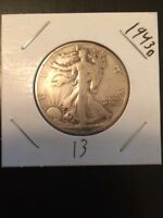 1943 D WALKING LIBERTY SILVER HALF DOLLAR