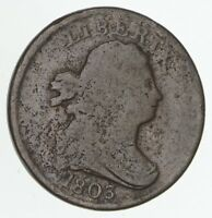 1803 DRAPED BUST HALF CENT - CIRCULATED 4184