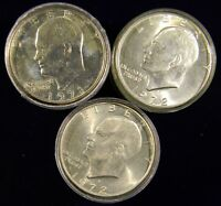ONE ROLL 20 COINS 1971-78 EISENHOWER/IKE DOLLARS, MIXED DATE CHOICE BU COINS