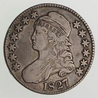 1827 CAPPED BUST HALF DOLLAR - CIRCULATED 8723