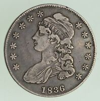 1836 CAPPED BUST HALF DOLLAR - CIRCULATED 7390