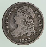 1832 CAPPED BUST DIME - CIRCULATED 7208