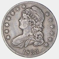 1833 CAPPED BUST HALF DOLLAR - CIRCULATED 5717