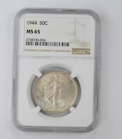 MINT STATE 65 1944 WALKING LIBERTY HALF DOLLAR - NGC GRADED 6669