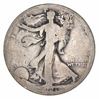 1921-D WALKING LIBERTY HALF DOLLAR - CIRCULATED 8116