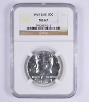 MINT STATE 67 1967 SMS KENNEDY HALF DOLLAR - NGC GRADED 9372