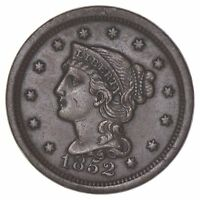 1852 BRAIDED HAIR LARGE CENT - CIRCULATED 7009