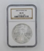 MS70 2006-W AMERICAN SILVER EAGLE - NGC GRADED 8346