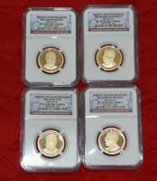 2013 S NGC PF 70 UC 4 COIN PRESIDENTIAL DOLLAR COIN PROOF SET DD059-204