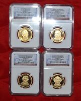 2008 S PROOF PRESIDENTIAL DOLLAR 4 COIN SET GRADED NGC PF69 UC AA008-095