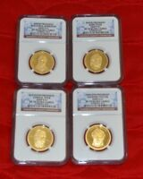 2009 S PF 70 UC 4 COIN PRESIDENTIAL DOLLAR COIN PROOF SET CC015-015