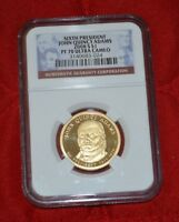 2008 S NGC PF 70 ULTRA CAMEO JOHN QUINCY ADAMS PRESIDENTIAL GRADED COIN AA024