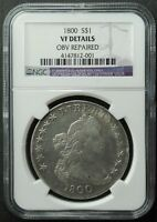 1800 DRAPED BUST DOLLAR, NGC,  VF-DETAILS, SHIP FREE, MORE AT STORE