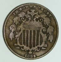 1883/2 3 OVER 2 SHIELD NICKEL -  - CIRCULATED 4714