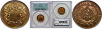 1867 TWO CENT PIECE PCGS PR-64 RD