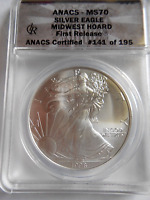 1998 SILVER EAGLE MS 70 REAL BEAUTY  COIN