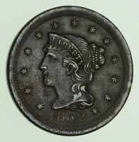 1852 BRAIDED HAIR LARGE CENT - CIRCULATED 7409