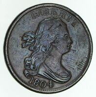 1804 DRAPED BUST HALF CENT - CIRCULATED 4799