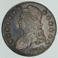 1824 CAPPED BUST HALF DOLLAR - VARIOUS DATES - CIRCULATED 4565