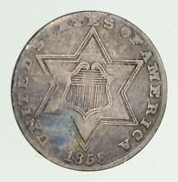 1858 SILVER THREE-CENT PIECE - CIRCULATED 7478