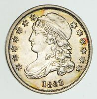1833 CAPPED BUST DIME - CIRCULATED 4342