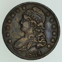 1834 CAPPED BUST HALF DOLLAR - CIRCULATED 5052