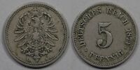 GERMANY  5 PFENNIG  1874 A
