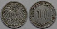 GERMANY  10 PFENNIG  1893 A