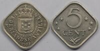 NETHERLANDS ANTILLES  5 CENTS  1983