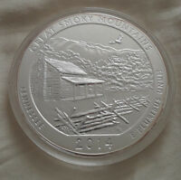 2014 5 OZ SILVER ATB GREAT SMOKY MOUNTAINS - AMERICA THE BEAUTIFUL