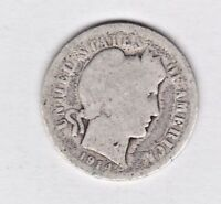 1914   BARBER DIME IN ABOUT GOOD  CONDITION STK D102