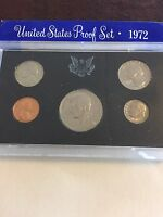 UNITED STATES COINAGE PROOF SET 1972 S U.S. MINT COINS