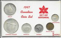 1967 CANADIAN COIN SET NICE  SILVER