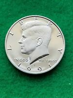 1991  S    KENNEDY HALF DOLLAR  CAMEO   UNCIRCULATED  PROOF   FREE SHIP