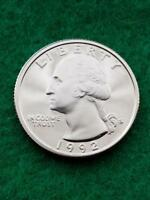 1992 S   WASHINGTON QUARTER  CAMEO  UNCIRCULATED  PROOF   FREE SHIP
