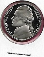 1978 S JEFFERSON NICKEL GEM PROOF CAMEO COIN WILL COMBINE SHIPPING